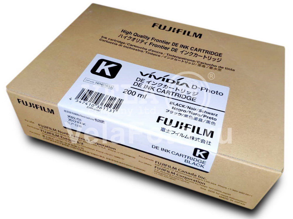 Картридж Фуджи FujiFilm DЕ 100 INK CARTRIDGE BLACK (Черный) (16562933)